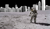 201 - Man on the Moon + City Scape 168x100