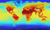 World temperature map - NASA