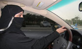 Saudi Woman Driving a Car